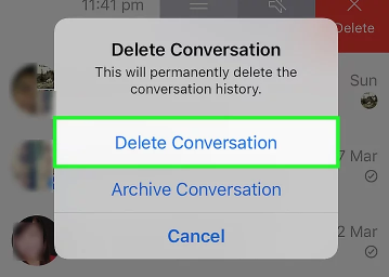 how to delete all conversations on facebook 2017