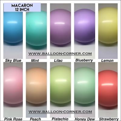Balon Latex Macaron SUPER Grade A (Ukuran 12 Inch)