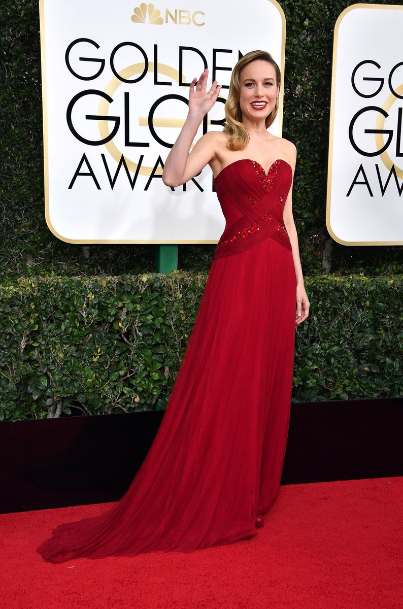 Who wore what 2017 golden globe awards red carpet brie larson in rodarte nick verreos - Golden globes red carpet ...