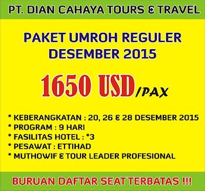 Paket Umroh Promo Desember 2015