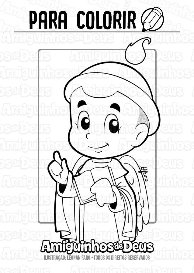 São Vicente Ferrer desenho para colorir