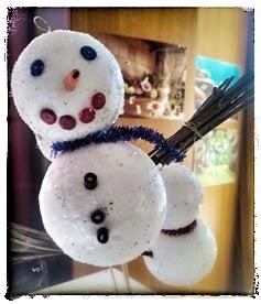 Une activité manuelle sympa pour réaliser ce bonhomme de neige