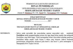 Download Format Contoh SK TIM Pengelola Dana BOS