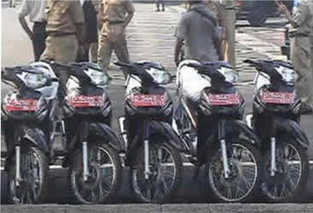 Ilustrasi sepedamotor dinas