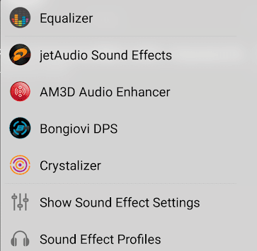 Using Equalizer and Sound Effects on jetAudio HD Music Player