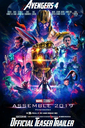 Avengers 4 Endgame 2019 Official Teaser Trailer | Hindi And English Watch Online Free 480p 720p 1080p thumbnail