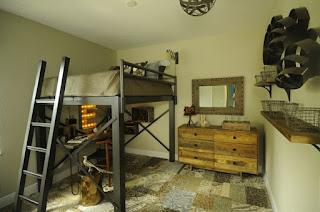dormitorio rústico adolescente