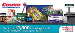 Current Costco Coupon September 2016