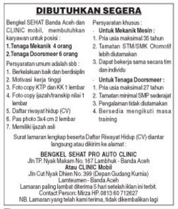 Bengkel Sehat Pro Auto Clinic di Banda Aceh