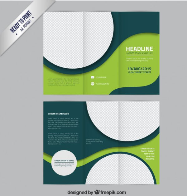 30 Template Desain Brosur Free Download Format Photoshop