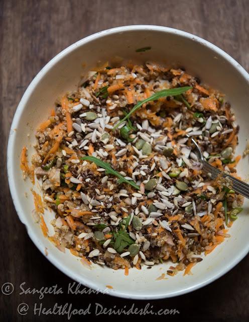 quinoa carrot lentil salad