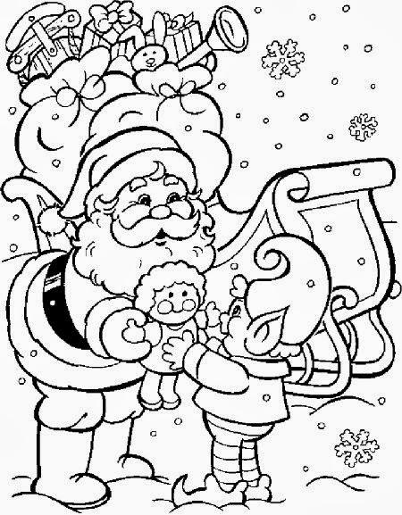 Desenhos de Papai Noel para colorir, imprimir e recortar