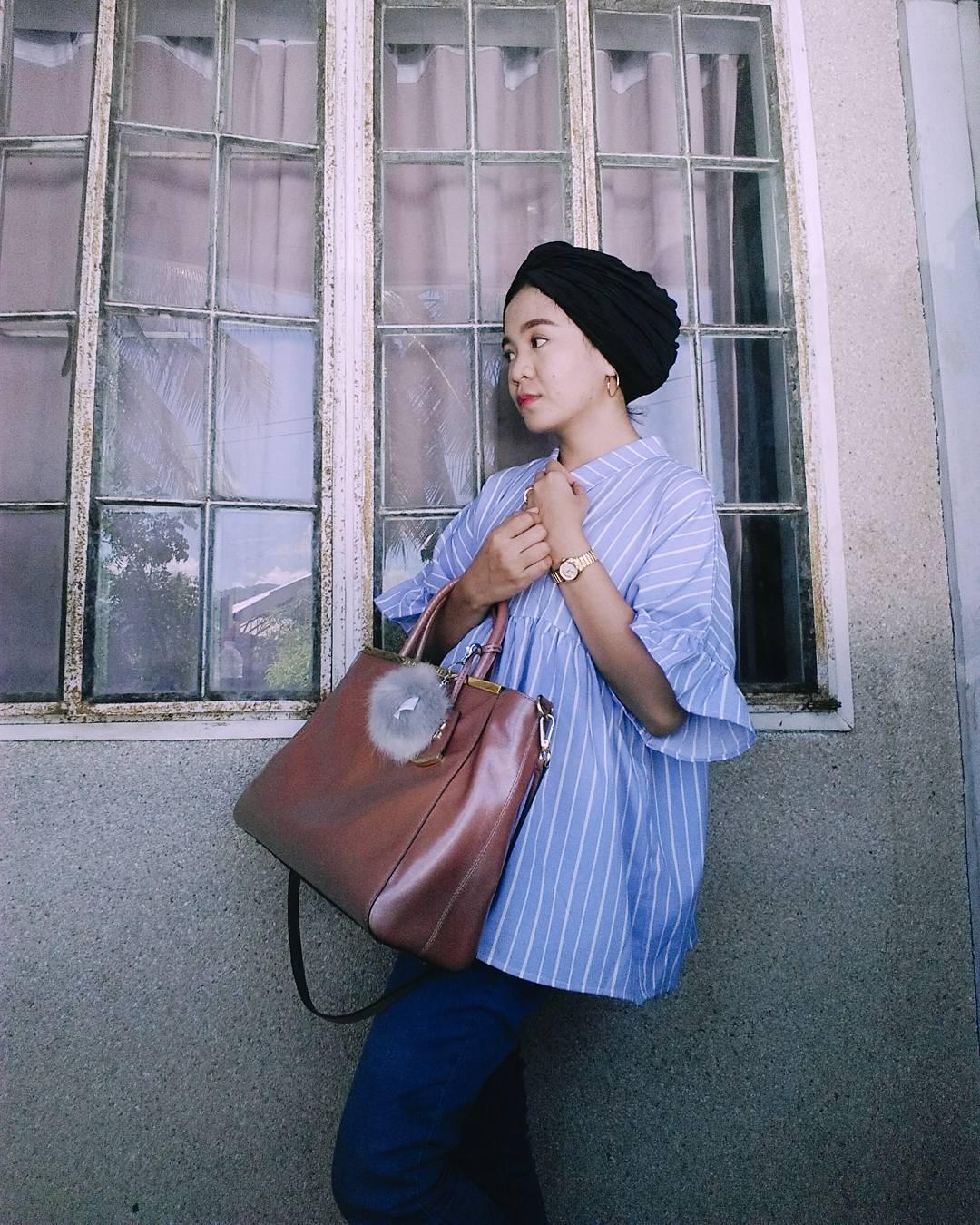 Ayeesha Dicali wearing Sabreenph Instant Turban