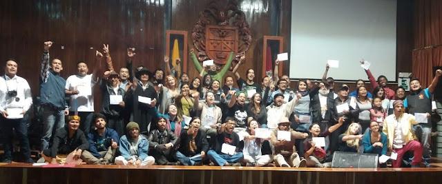 Congreso nacional de Cultura Viva Comunitaria en Imbabura