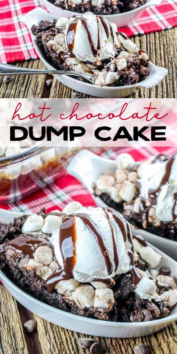 HOT CHOCOLATE DUMP CAKE