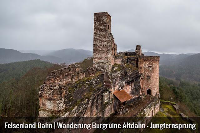 Felsenland Dahn  Wanderung Burgruine Altdahn – Jungfernsprung 01