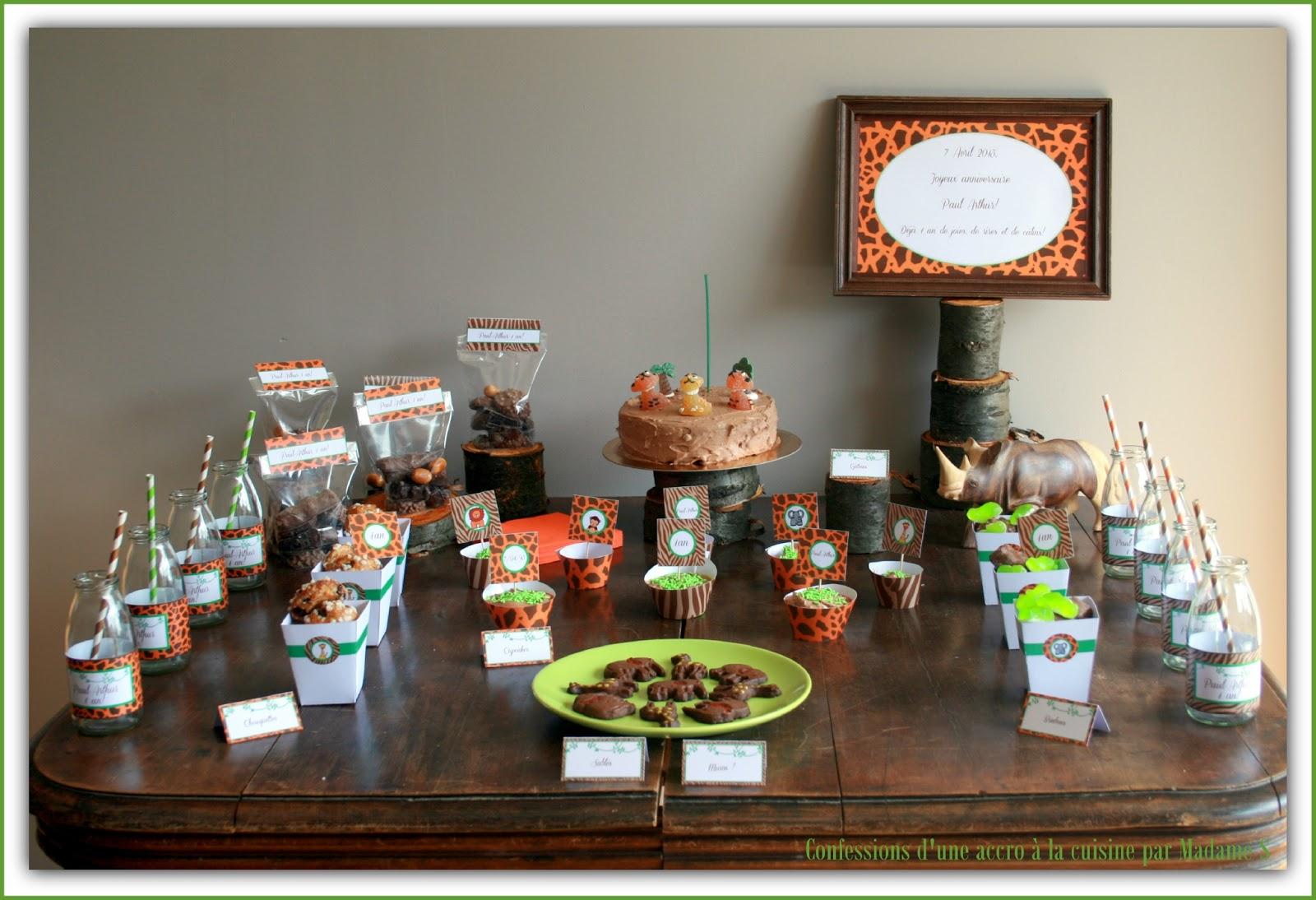 Sweet Table Jungle Safari Le Candy Bar
