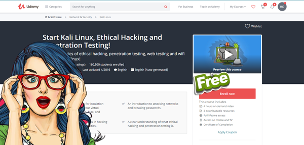 Start Kali Linux, Ethical Hacking and Penetration Testing | Freetechways