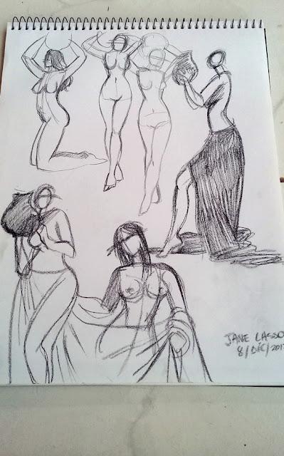 sketches con carboncillo