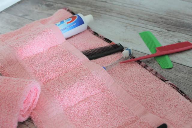 DIY Toothbrush Roll