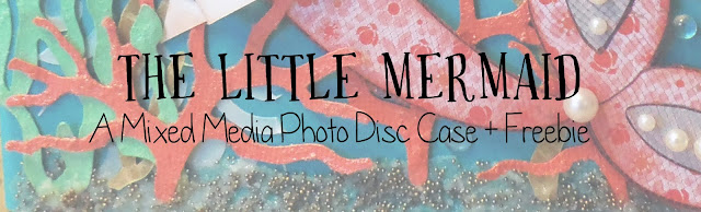 scrapbook, scrapbooking, mixed media, paper crafting, mermaid, ocean, sea, seahorse, flowers, baby, infant, handmade, custom, freebie, free cut file, coral, seaweed, distress ink, Prima, Tim Holtz, stamping