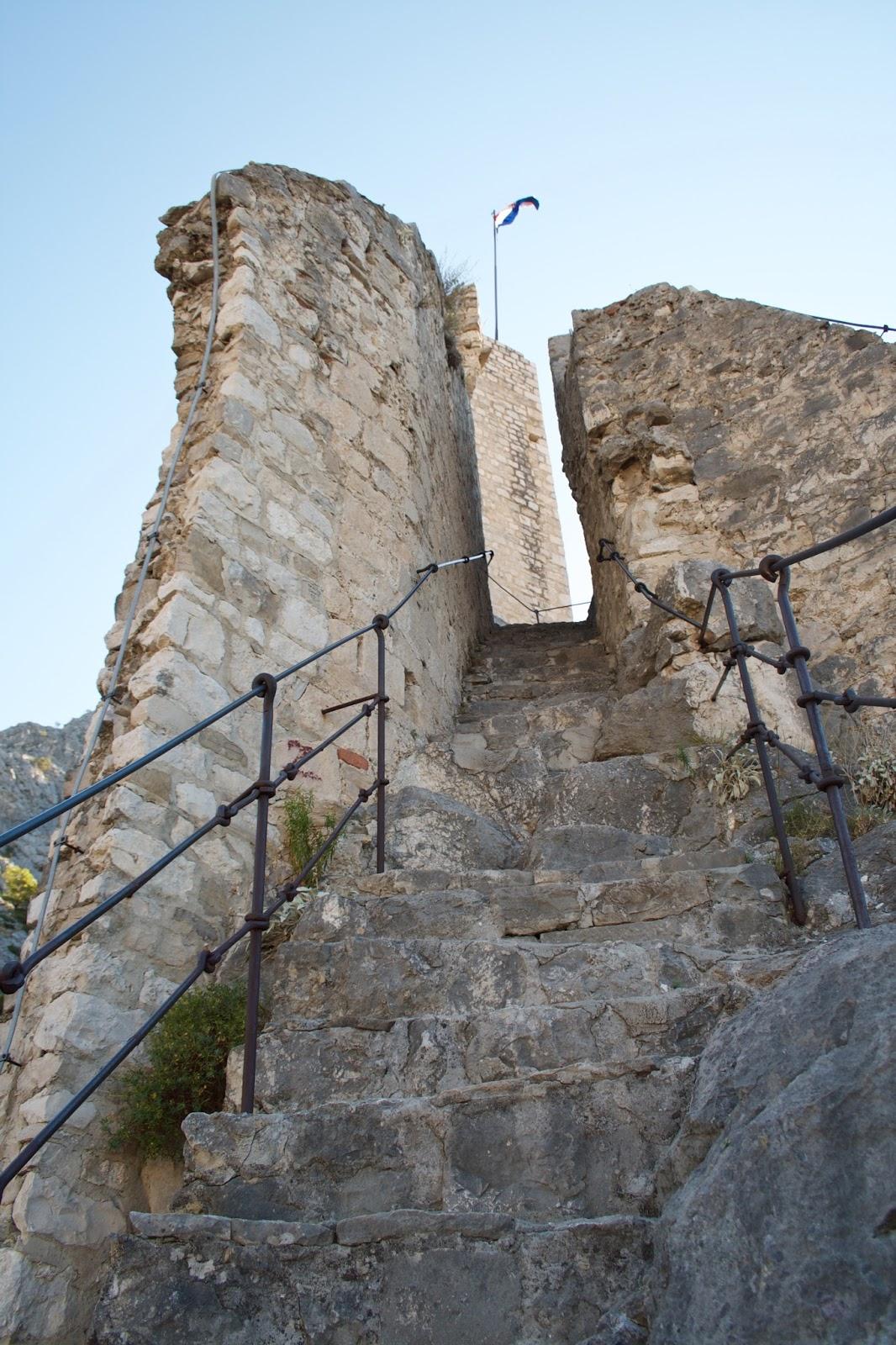 Dovolená v Chorvatsku - září, s dětmi, - pevnost v Omiši