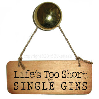Lifes Too Short for Single Gins wooden sign By Wotmalike