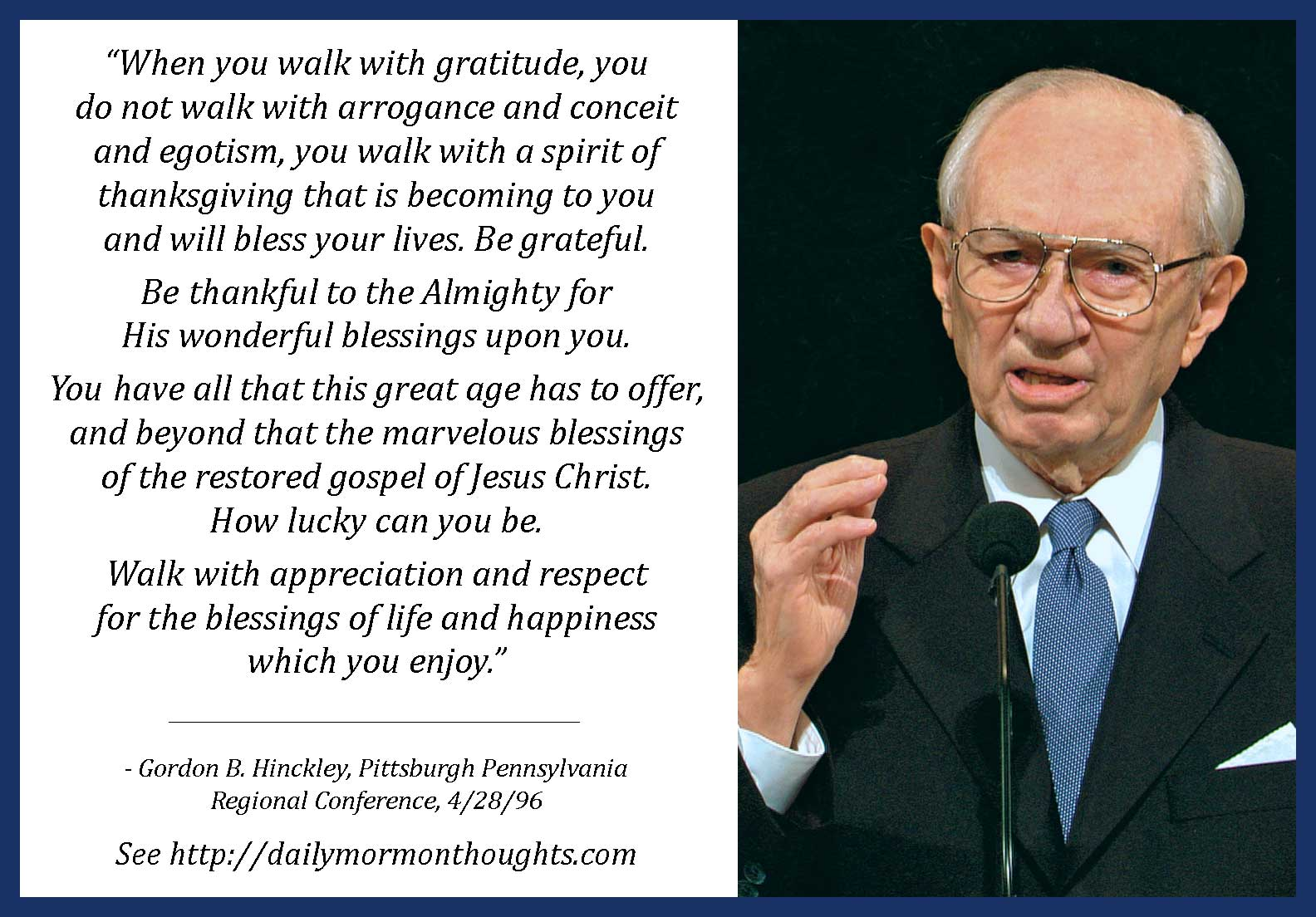 Daily Thought from Modern Prophets: President Gordon B ...