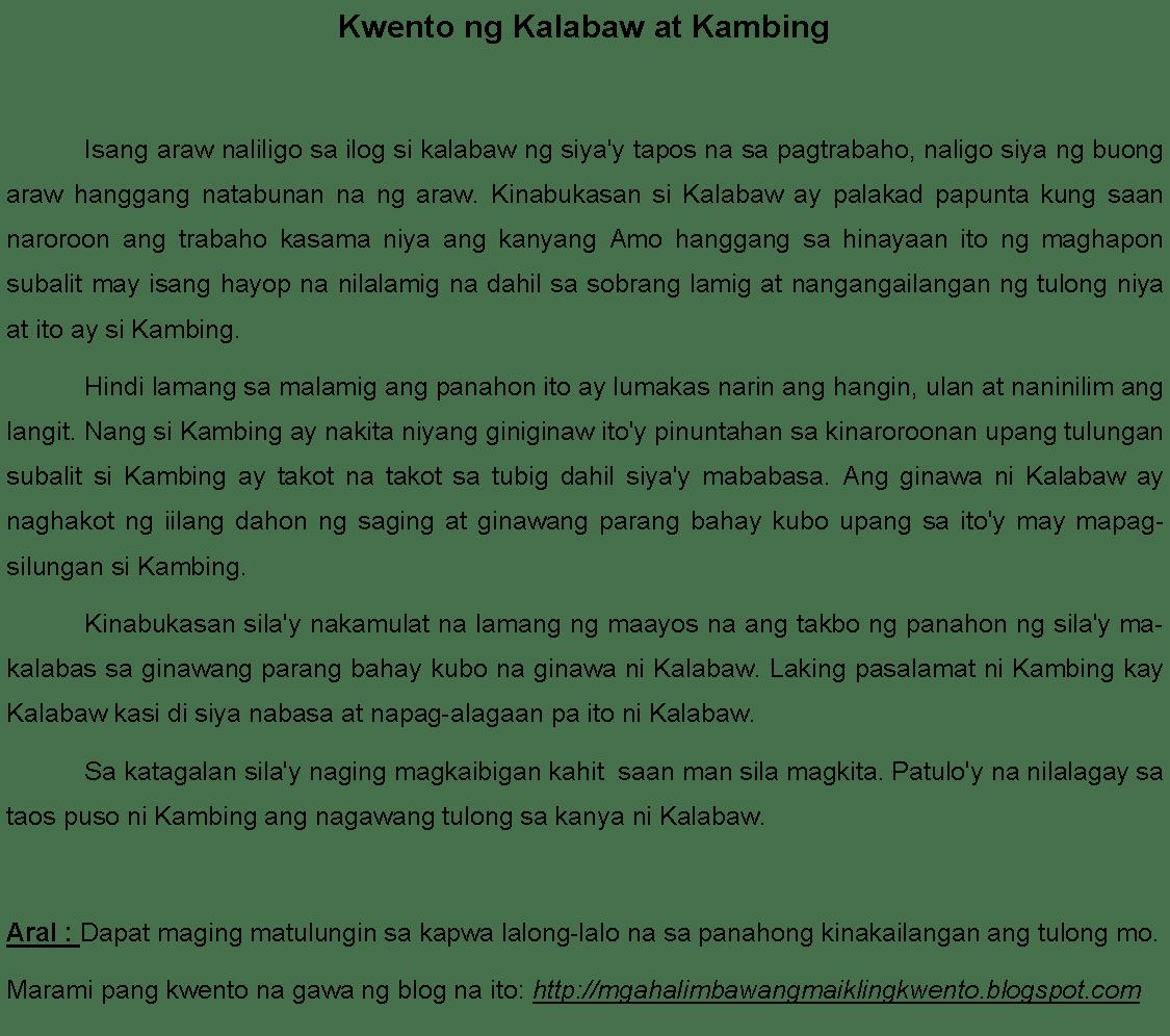 Mga Kwentong Tagalog Tungkol Sa