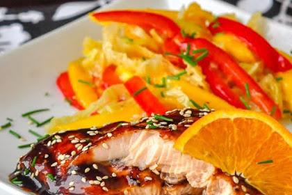 Orange Five Spice Glazed Salmon
