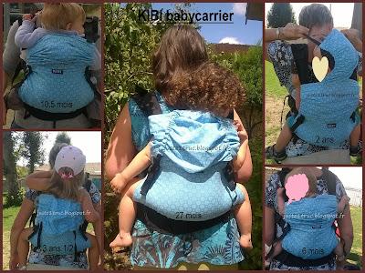 KIBI préformé porte-bébé babycarrier babywearing portage évolutif taille bambin bébé réglages