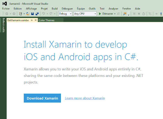 Install Xamarin to develop iOS an Android apps in C#