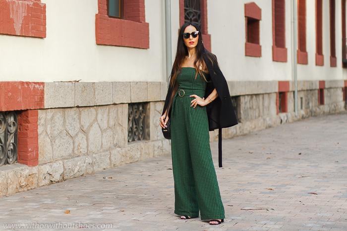 Streetstyle Valencia Look outfit urban chic estiloso elegante ideas combinar mono palabra de honor