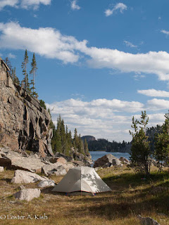 camp, Beartooth Mountains