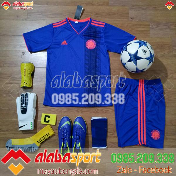quần áo đá bóng colombia xanh 2018