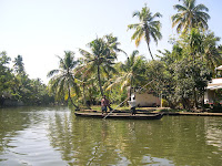 Body of water in Kerala, India