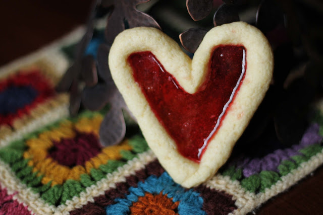 valentine day stained glass cookies