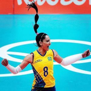 Jacqueline Carvalho atlet voli brazil 2016, paha mulus, seksi, panas