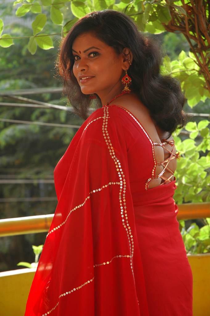 Sheela Removing Saree Pallu Less Photo Shoot, Latest -7989