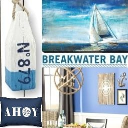 Coastal Nautical Decor Breakwater Bay