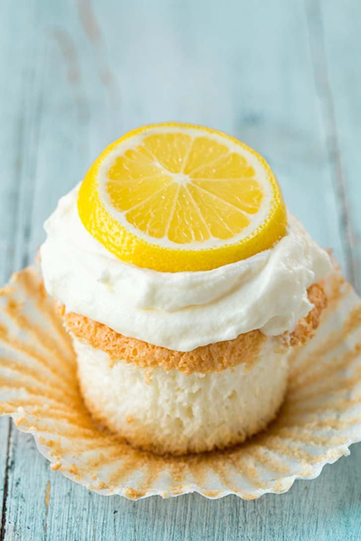 Lemon Angel Food Cupcakes | Cake Magazine