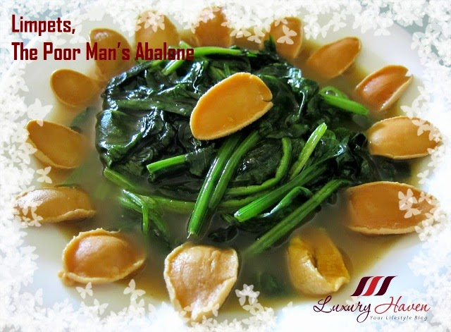 cny reunion dinner limpets with spinach recipes