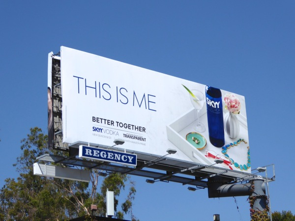 This is me Skyy Vodka billboard Sunset Strip