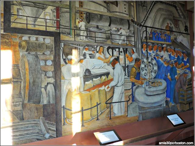 Mosaicos del interior de la Torre Coit