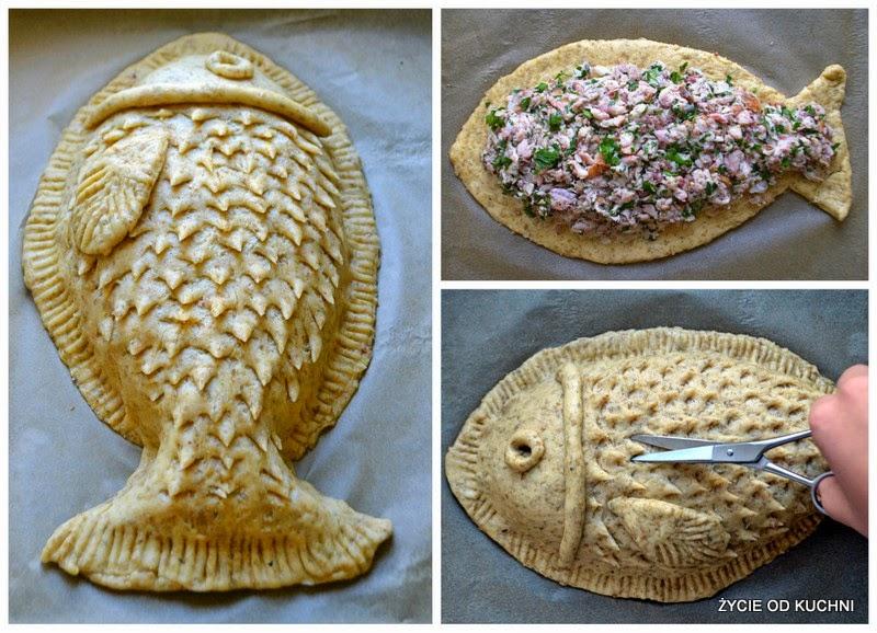 karp zatorski wedzony, karp w ciescie, ryba z ciasta, zycie od kuchni