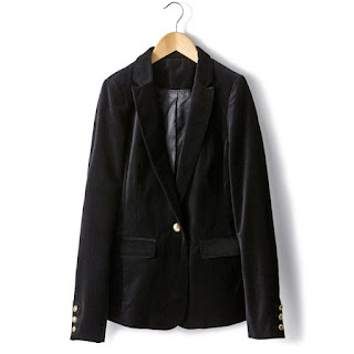 La Redoute Laura Clement Tailored 100% cotton velvet jacket