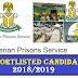 Download Prison service Shortlisted Candidate 2018/2019 Names Online