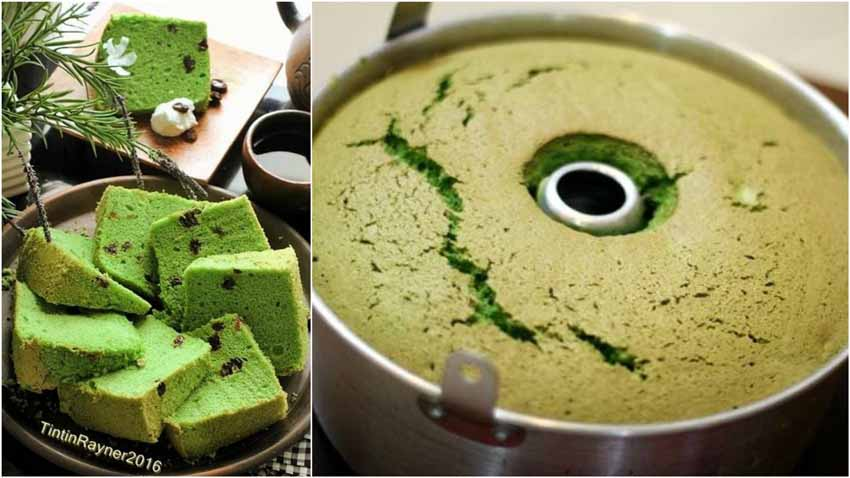 Resep Membuat Chiffon Green Tea Matcha Soft And Moist. di Jamin Langsung Ngembang