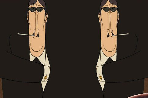 Smoker The Triplets of Belleville 2003 animatedfilmreviews.filminspector.com