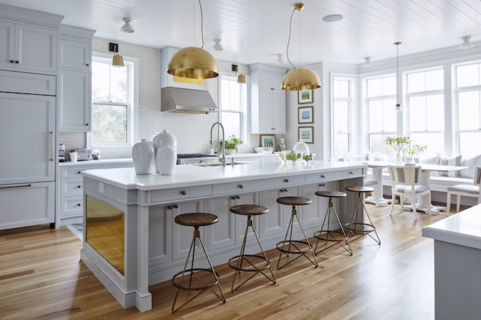 Classic Yet Contemporary, This Is Definitely One Of My Top Dream Kitchens.  From The Vintage Lighting Fixtures (in Place Of Pot Lights), A Pair Of  Super Chic ...